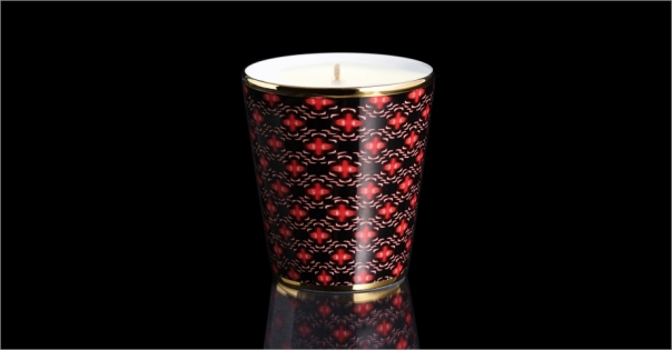 Bougie de luxe en Porcelaine de Limoges modèle Montana - Lorenza-difilippo.fr