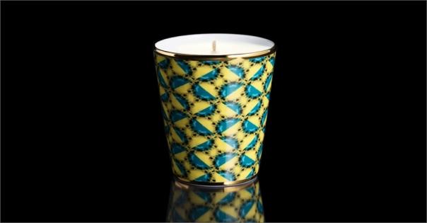 Bougie de luxe en Porcelaine de Limoges modèle Amazonia - Lorenza-difilippo.fr