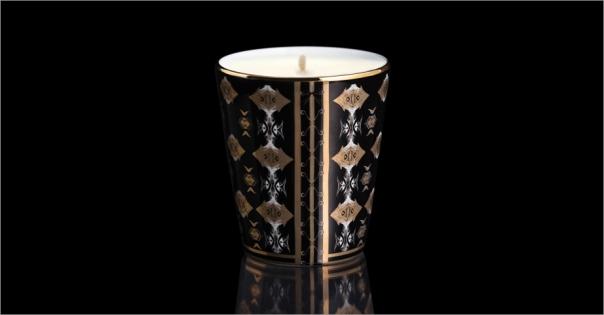 Un luxueux pot à bougie modèle Africa noir - Lorenza-difilippo.fr