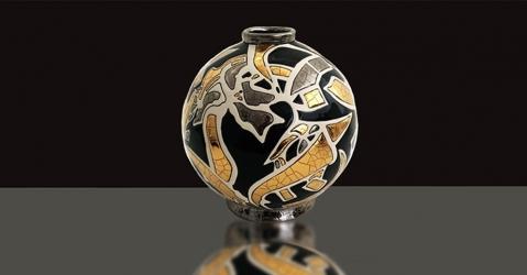 Emaux de Longwy - Boule Midi - Collection Platinium - Lorenza-difilippo.fr