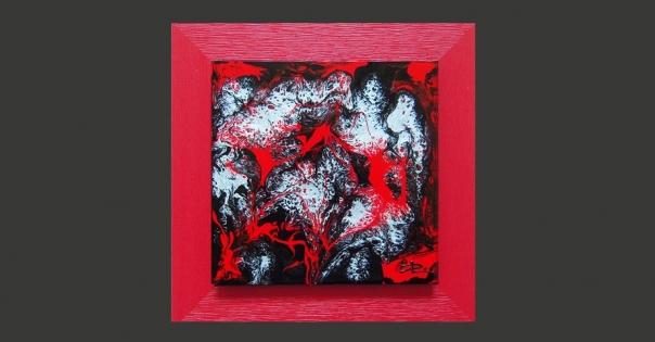 Tableau - Peinture contemporaine modèle Constellations - Lorenza-difilippo.fr