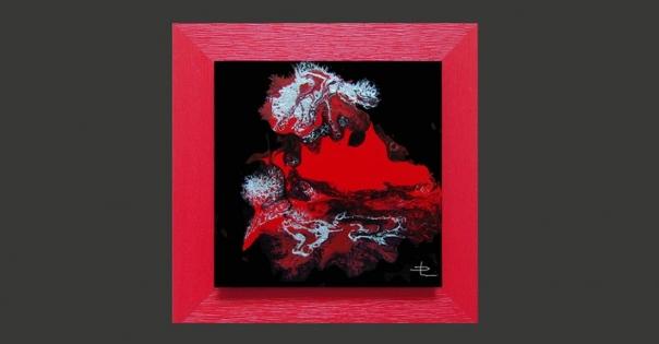 Tableau - Peinture contemporaine modèle Volcano - Lorenza-difilippo.fr