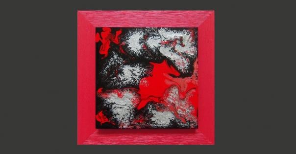 Tableau - Peinture contemporaine modèle Galaxies - Lorenza-difilippo.fr