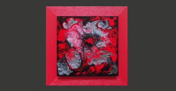 Tableau - Peinture contemporaine modèle Flammes - Lorenza-difilippo.fr