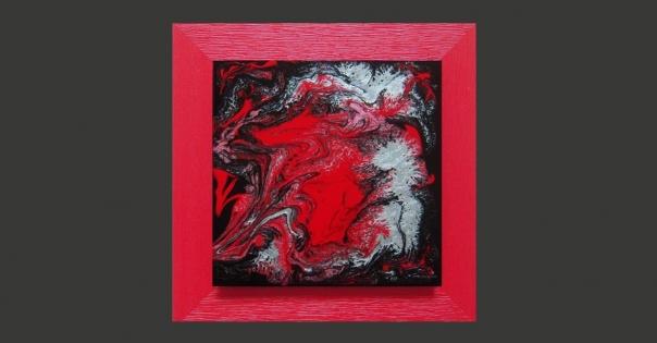 Tableau - Peinture contemporaine modèle Tentation - Lorenza-difilippo.fr