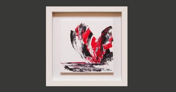 Tableau - Peinture contemporaine modèle Les Ailes de Feu - Lorenza-difilippo.fr