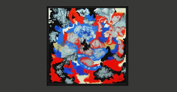 Tableau - Peinture contemporaine modèle Folklore - Lorenza-difilippo.fr