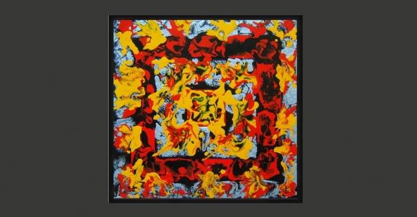 Tableau - Peinture contemporaine modèle Carnaval - Lorenza-difilippo.fr