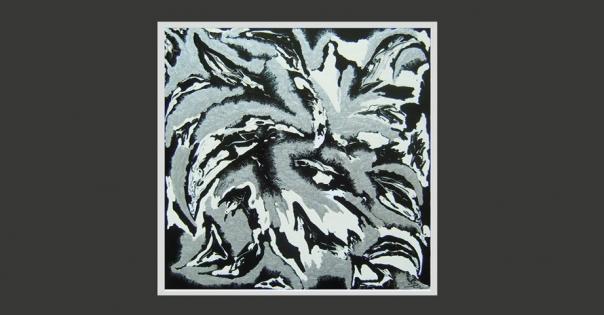 Tableau - Peinture contemporaine modèle Plumes - Lorenza-difilippo.fr