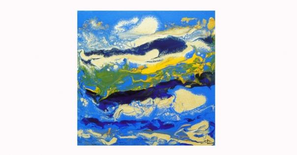 Tableau - Peinture contemporaine modèle Pacifique - Lorenza-difilippo.fr