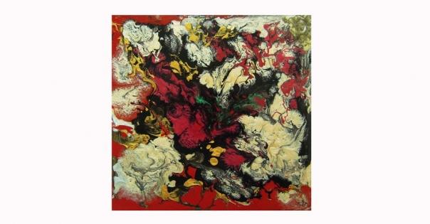 Tableau - Peinture contemporaine modèle Terre de Feu - Lorenza-difilippo.fr