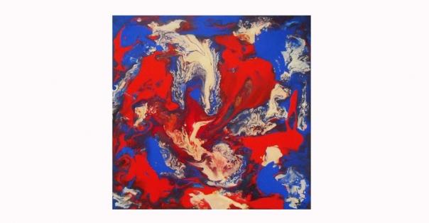 Tableau - Peinture contemporaine modèle Coquillages - Lorenza-difilippo.fr