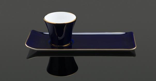 Tasse à café - Porcelaine française - Modèle Café des délices en bleu marine - Lorenza-difilippo.fr
