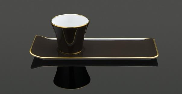 Tasse à café - Porcelaine française - Modèle Café des délices en bronze - Lorenza-difilippo.fr