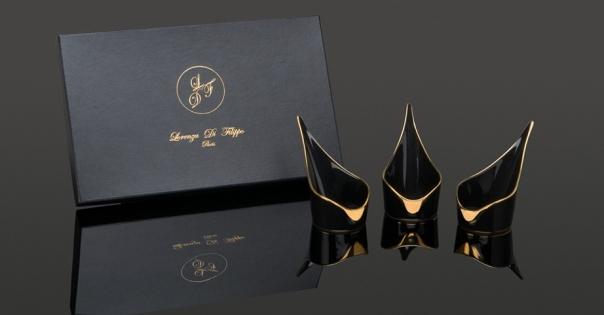 Coffret Amuses-bouche - Modèle Alizée GM - Couleur noire et or - Lorenza-difilippo.fr