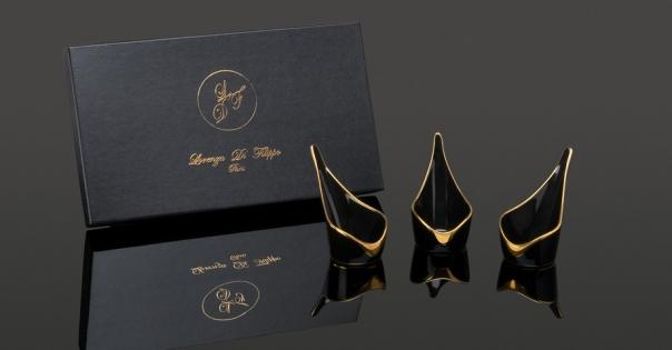 Coffret Amuses-bouche - Modèle Alizée PM - Couleur noire et or - Lorenza-difilippo.fr