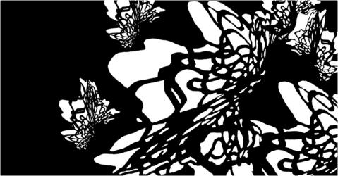 Foulard en soie Haute Couture - Modèle Krystal noir - Lorenza-difilippo.fr