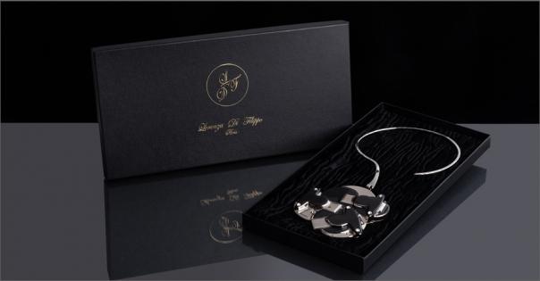 Bijou de Créateur - Modèle Perlia en noir et platine - Lorenza-difilippo.fr
