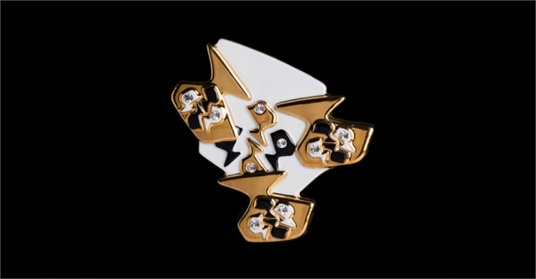 Bijou de luxe pour femme - Modèle Lorena en or brillant - Lorenza-difilippo.fr