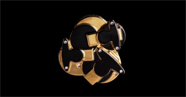 Bijou de luxe pour femme - Modèle Perlia en noir et or - Lorenza-difilippo.fr