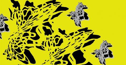 Foulard en soie Haute Couture - Modèle Krystal jaune - Lorenza-difilippo.fr