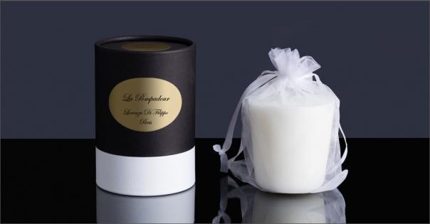 Bougie parfumée aux accords floraux - La Pompadour - Lorenza-difilippo.fr