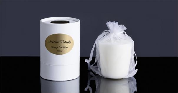 Bougie parfumée Madame Butterfly - Lorenza-difilippo.fr