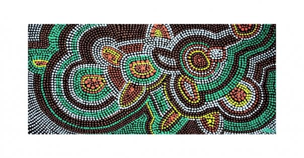 Tableau - Pointillisme sur toile modèle Australia - Lorenza-difilippo.fr