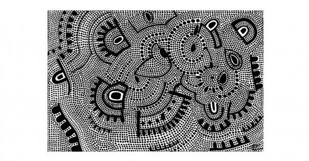 Tableau - Pointillisme sur toile modèle Uta Wuta - Lorenza-difilippo.fr