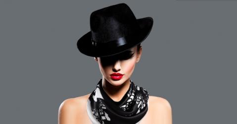 Foulard en soie noir et blanc - Modèle Krystal noir - Lorenza-difilippo.fr