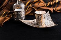 Bougies parfumées de Grasse et Pots en Porcelaine de Limoges